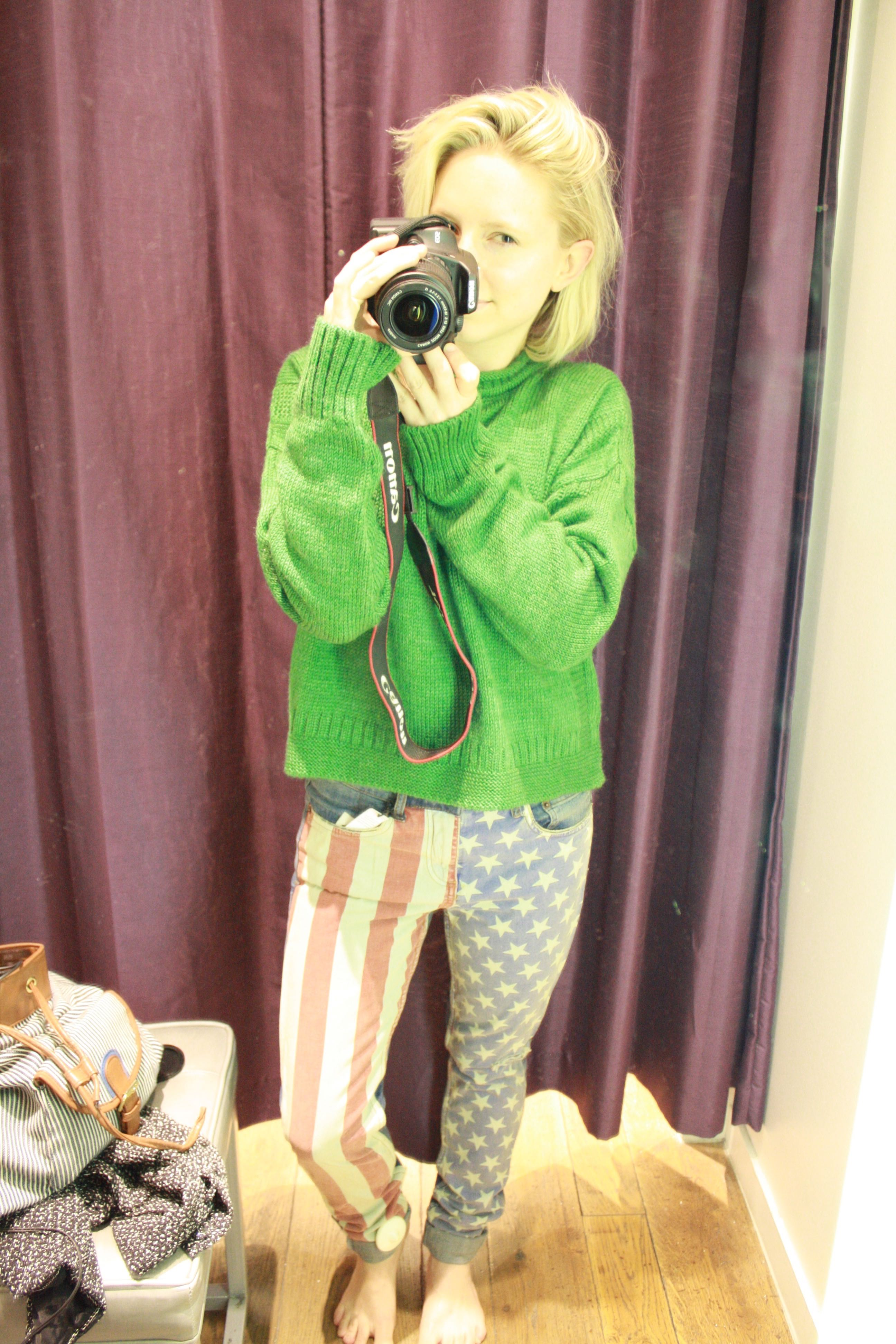Topshop American Flag Jeans